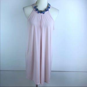 BCBGeneration Blush Pink Halter Sheath Dress 1159